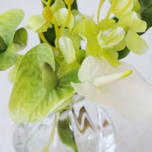 夏にぴったり爽やかグリーンアレンジメント(造花/アートフラワー)