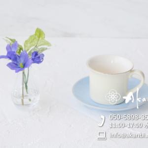 手のひらサイズの涼やか桔梗アレンジメント(造花/アートフラワー)