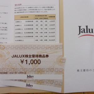 優待改悪連日被弾&JALUX優待到着