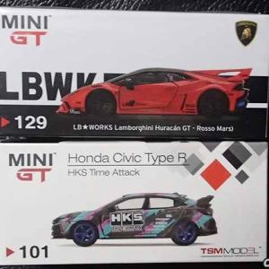 MINI-GTのLB★WORKS、ランボルギーニウラカンGTとHKSシビックTypeRが届いた!
