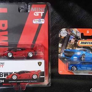 トミカの日でしたがMINI GTのLB★WORKSウラカンGTのトイザらス限定オリジナル版とマッチボックスの2018ダッジ・チャージャーをゲット