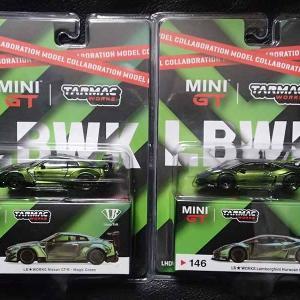 ターマックワークスとMINI GTのコラボミニカー、LB-WORKS R35GT-RとウラカンGTの価格…