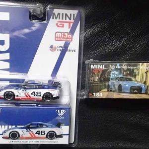 MINI GTのLB★WORKS Nissan GT-R (R35) 2種。Collection Garage Special と#46 Infinite Motorsport