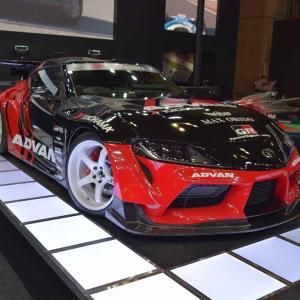ADVANカラーのGRスープラA90型MAX ORIDO Supra tuned by HKSは織戸選手監修(東京オートサロン2020)