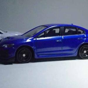 WRブルーの通常版トミカ、スバルWRX S4 STI Sport#