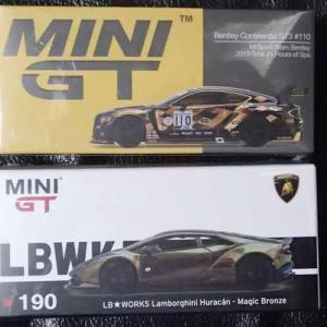 MINI GTのLB★WORKSランボルギーニ・ウラカンのマジックブロンズとベントレーGT3、スパ24時間耐久出場車