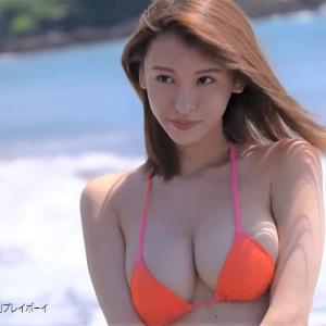 【奈月セナ】Gカップ20 週プレ!動画!水着姿を披露!DVDが特別付録に初登場!