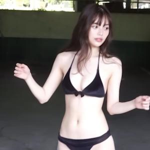 【森日菜美】-カップ 週プレグラビアメイキング動画!水着姿を披露!
