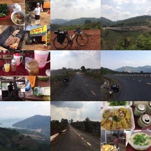 3/7 ザーギアから山道を走る Gia Nghĩa to Đắk Som(SE Asia Cycling 2020 Day 26, Mar. 7)