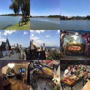 3/14 湖一周とクレイジーハウス Crazy House, Đà Lạt Day 3(SE Asia Cycling 2020 Day 33, Mar. 14)
