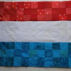 パッチワークでオランダの国旗