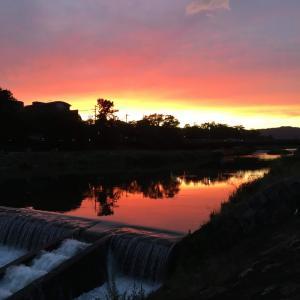 夏至の新月の日、京都は素敵な夕焼け