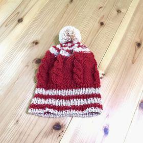 2020ボランティア 縄編みの帽子