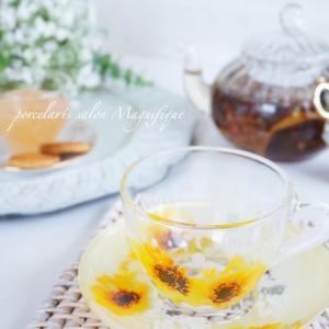 【インストラクターコース課題作品】ガラスのカップ&ソーサー