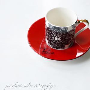 赤が素敵なカップ&ソーサー