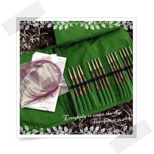 道具:Knit Pro シンフォニー・ウッド 付け替え可能輪針デラックスセット
