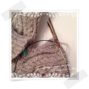 道具:Knit Proの輪針 シンフォニーウッド