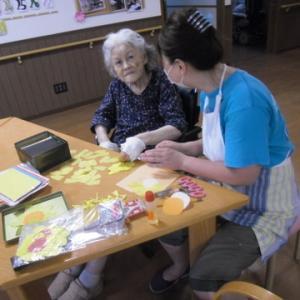 折り紙レクと紫陽花ゼリー