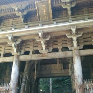 四国霊場・大宝寺の仁王門をくぐり、本堂へ