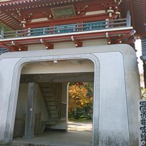 四国霊場第六番札所・安楽寺でおつとめし、また休憩