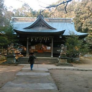 天石門別八倉比売神社の拝殿前に到着