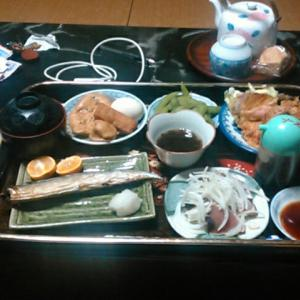 「遍路宿」民宿上松での夕食