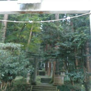 あきる野市の雨武主神社の石段をのぼる