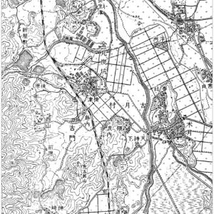 1930年の鞍手町北部の地図