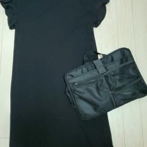 ワンピースとバッグインバッグ