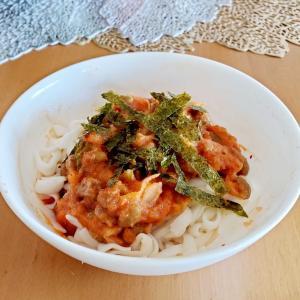 明太キムチ納豆麺