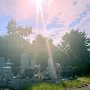 祖父母のお墓参りに