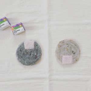 羊毛フェルトでコースター 〜こあらさんの手編み工房〜