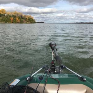 ゴムボートでエレキ2機掛けを試してみた釣行(2020年11回目レイクスキューゴグ)