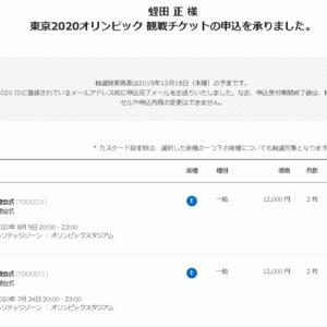 東京2020オリンピック第2次抽選販売