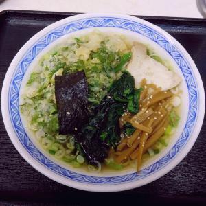 塩ラーメン(470円)+春菊(110円)@みまつ(中央区)