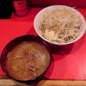 小つけ麺(800円)+ニンニク@ラーメン二郎 府中店(府中市)