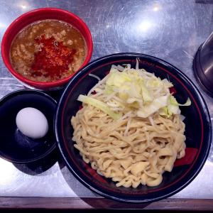 紅つけ麺(920円)+温泉たまご(100円)@麺創研 紅 府中店(府中市)