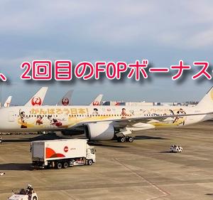 JAL、衝撃の2回目FOPボーナス積算へ。ただし、注意点あり。