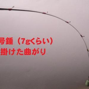竹穂先の弾力