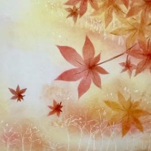 幻想的な秋を描きたくて