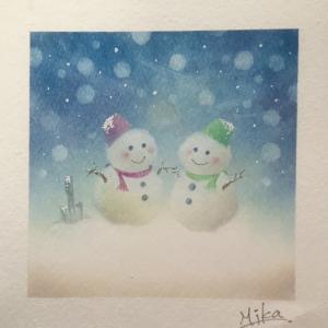 パステルシャインアート「雪」のテーマをリベンジ