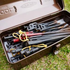 キャンプでスチール工具箱をペグ入れに使う4つのメリットとデメリット1つ