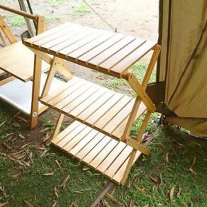 ベルメゾンの「簡単に折りたためるラック」をレビュー ~ 木製で上品な3段ラック