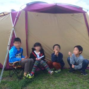 第47営 海辺のキャンプ場で強風&雨あられに見舞われるも子供は元気に外遊び♪