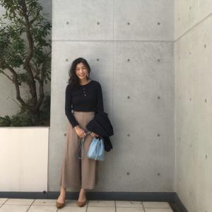 【大人婚活コーデ】GU990円ドレープワイドパンツが着痩せと大人の抜け感を叶えてくれます!