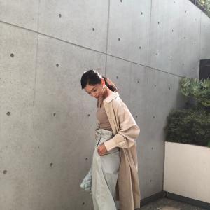 【GU】Aラインシャツワンピース(長袖)を大人上品なスタイリングに仕上げたくて・・・