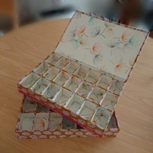 生徒さま作品♪♪♪(蝶番の箱 ファイルbox ティッシュボックス)