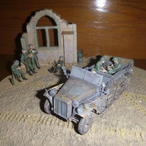 塗装:ドイツ陸軍 1トンハーフトラック sd.kfz.10