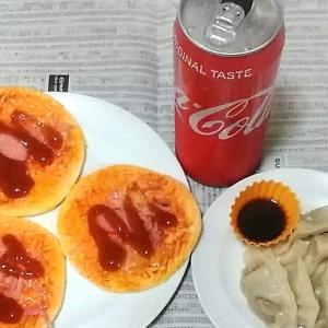 ピザとコーラのデブ製造食を食べてHP回復!