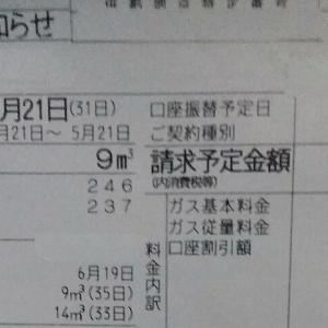 東京都内1人暮らし貧乏独身女の2020年5月のガス代と昨日の電気代節約の続きの話。